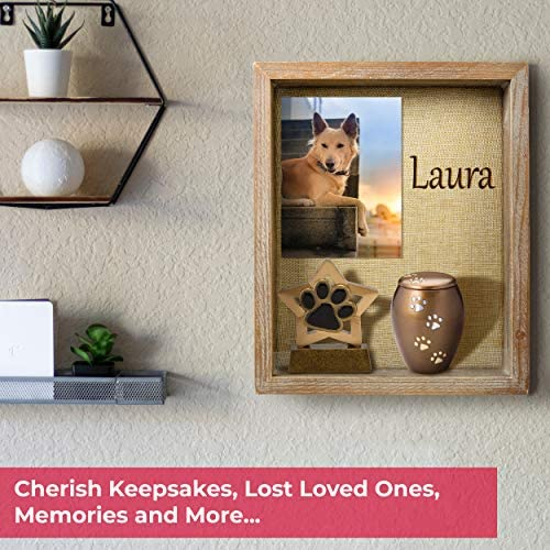 Shadow Box Frame - Display Case - 8x10 inches - Interior 2 inches deep - Brown Wood - Display Your Photo, Picture, Memory, Wedding, Love, Jersey, Collage, Trinket