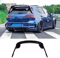 KERIST ABS MK7 Gloss Black Rear Wing Side Spoiler Lip for Volkswagen Golf 7 2014 2015 2016 2017: Automotive