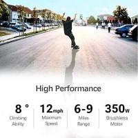 Current Mini Skateboard 6-9 Miles Max Range | 13 MPH Top Speed | 350W Hub Motor | Recommended Max Load 200 Lbs | PU Wheel 70x51 mm Grey (Grey) : Sports & Outdoors