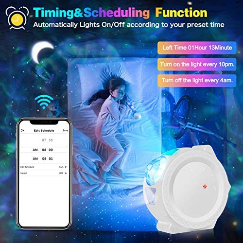 Star Projector Night Light Smart Galaxy Sky Light Projector Compatible with Alexa Google Home Galaxy Cove Projector Ceiling Night Light Projector Star Lights Projector for Bedroom Kids Adults Gift: Home Improvement