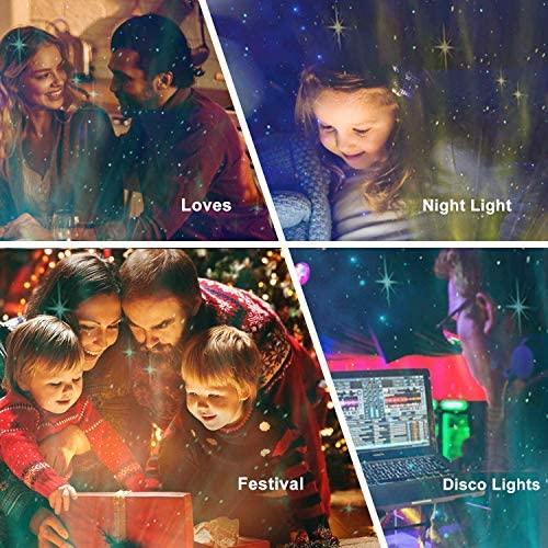 Aisuo Night Light, Star Projector with Bluetooth 5.0 HiFi Speaker, 21 Lighting Modes Bedside Lamp, Adjustable Lightness & Remote Control, Ideal Gift Ideas, Friends, Music Player, Decor.(Wood Grain): Home Improvement