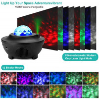 Galaxy Star Projector Starry Projector Light with 21 Lighting Modes with Remote Control& Built-in Music Player Ocean Wave Star Projector As Gifts Decor Birthday Party Wedding Bedroom Living(Black): Home Improvement