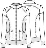 Cherokee iflex Women's Zip Front Warm-Up Scrub Jacket: Clothing