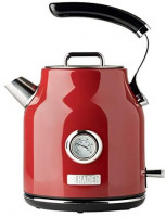 Haden DORSET 1.7 Liter Stainless Steel Retro Electric Kettle with Auto Shut-Off and Boil-Dry Protection in Red: Kitchen & Dining