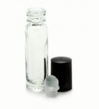 24, Clear, 10 ml Glass Roll on Perfume Bottles with 3 ml Dropper : Beauty