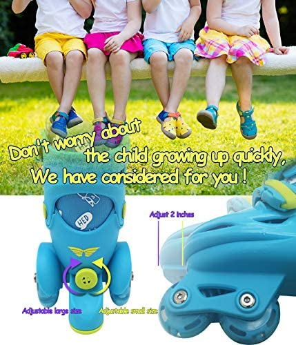 Adjustable Roller Skates for Girls & Boys with Light Up Wheels (Age 3-9) – Roller Skates with Illuminating Wheels (S Size) : Sports & Outdoors