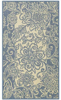 Maples Rugs Adeline Kitchen Rugs Non Skid Accent Area Carpet [Made in USA], 1'8 x 2'10, Blue: Furniture & Decor