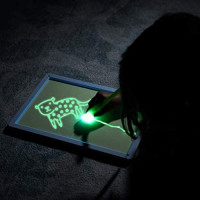 Zen Life Draw with Light Sketch Board, Luminescent Glow in The Dark Drawing Painting for Kids: Toys & Games