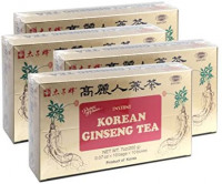 Prince of Peace Korean Ginseng Tea(Instant) 0.07 Oz X 10 Bags X 10 Boxes (4): Health & Personal Care
