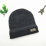 Winter Cold And Warm Woolen Hat Plus Velvet Outdoor Cycling Cotton Hat Middle-aged And Elderly Men's Knitted Hat Hood Cap