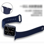 Soft Silicone Sport  Band Compatible with for Apple Watch Band 38mm 40mm