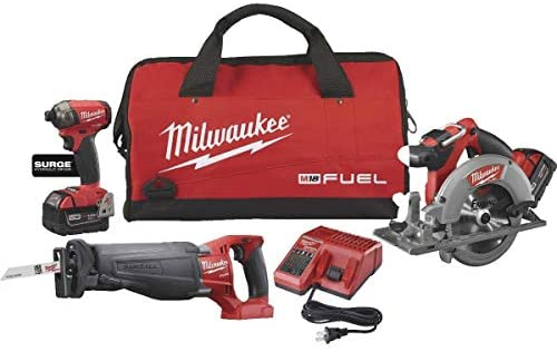 Milwaukee 2995-23 M18 Fuel Li-Ion 3-Tool Brushless Cordless Tool Combo Kit : Garden & Outdoor