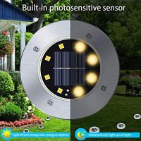 12 Pack Solar Ground Lights, LED Disk Lights Outdoor Waterproof Warm White Inground Landscape Lights for Patios Lawns Deck Gardens Pathways: Home Improvement