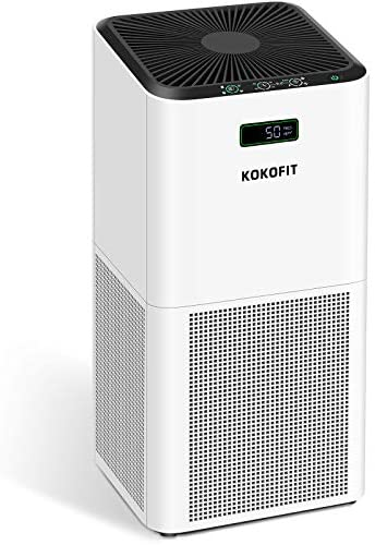 KOKOFIT Air Purifier for Home, CADR 320 H13 True HEPA Filter Purifiers Up to 710 Sq.Ft. Quiet Filtration Cleaner for Allergies Pets Remove 99.97% Odors Smoke Dust Mold Pollen in Bedroom Large Room, White: Kitchen & Dining