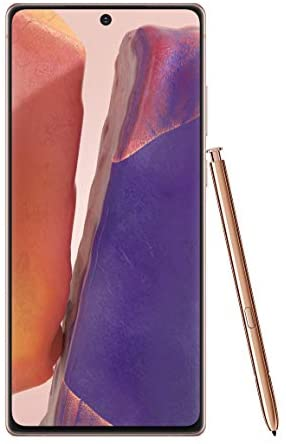 Samsung Electronics Galaxy Note 20 5G Factory Unlocked Android Cell Phone, US Version, 128GB of Storage, Mobile Gaming Smartphone, Long-Lasting Battery, Mystic Bronze, SM-N981UZNAXAA