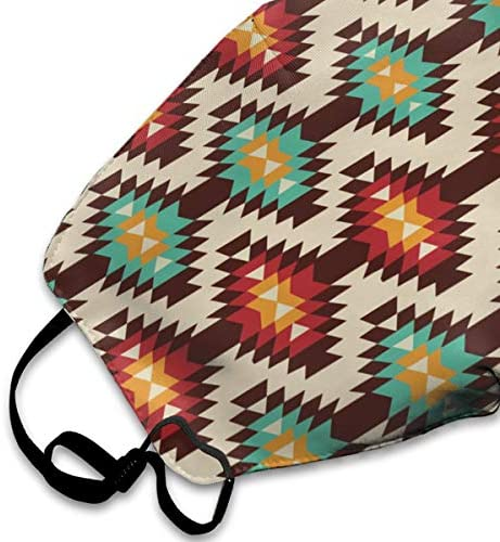 Comfortable Adjustable American Native Pattern Printed Facial Decorations For Women And Men