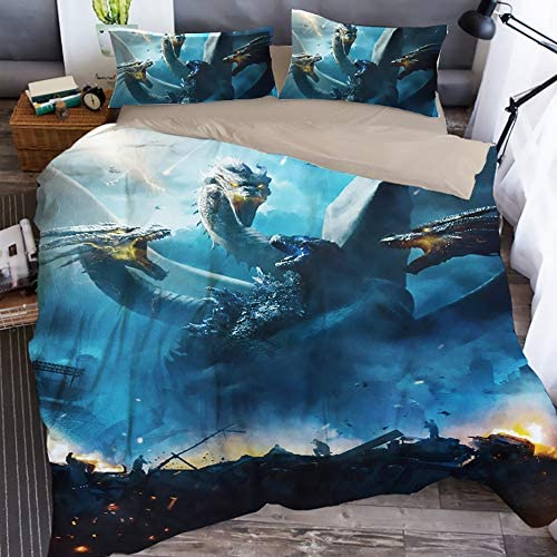 Tghd86 Znn God-Zilla Twin/Full/Queen/King Comforter Set with Pillow Sham and Duvet Cover Bedding 3 Pieces: Home & Kitchen