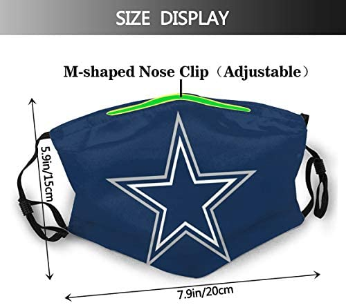 Fremont Die Da-llas Cowb-oys NFL Face Cover,Masks,Mouth Guard,Outdoor Bandanas,Dustproof Scarf,Balaclava,Neck Gaiter: Home & Kitchen