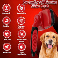 Outrav Slicker Brush for Deshedding Dog, Cat, Small Animal – Self Cleaning Fur Slicking Brushes for Grooming Long, Medium or Short Pet Hair – Ergonomic Tool with Retractable Bristles, Non-Slip Handle : Pet Supplies