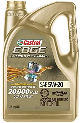 Castrol 1598EF Edge Extended Performance 5W-20 Advanced Full Synthetic Motor Oil, 5 Quart: Automotive