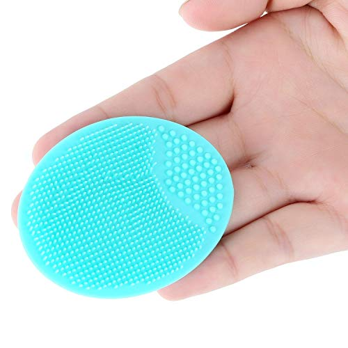 8pcs Soft Silicone Face Cleanser By RJSMY, Handheld Mat, Silicone Face Brush,Exfoliator Face Cleansing, for Daily Facial Cleaning, 8 colors: Beauty
