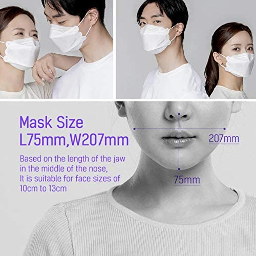 AIRQUEEN Authentic [50 Pack] 3-Layers Nano-Filter Face Safety Mask for Adult [Individually Packaged] [Made in South Korea]
