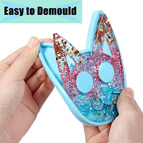 Self Defense Cat Resin Mold,Keychain Pendants Epoxy Jewelry Casting Mold Polymer Clay Resin Baking Mould for DIY Crafts,Handmade Gift,Decoration: Arts, Crafts & Sewing