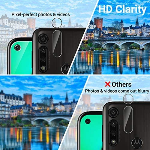 6 Pack LK 3 Pack Screen Protector + 3 Pack Camera Lens Protector Compatiblewith Motorola Moto G Power, Tempered Glass, Easy Frame Installation, HD Ultra-Thin