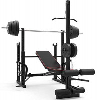 Adjustable Weight Bench, Weight Lifting Bench with Shelf, Multifunction Weight Bench Press Decline Incline Weightlifting Rack(Excluding Barbell) : Sports & Outdoors