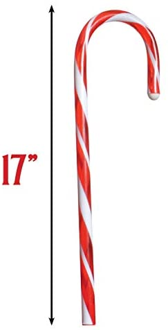 Prextex Christmas Candy Cane Pathway Markers Set of 12 Christmas Indoor/Outdoor Decoration Lights: Garden & Outdoor