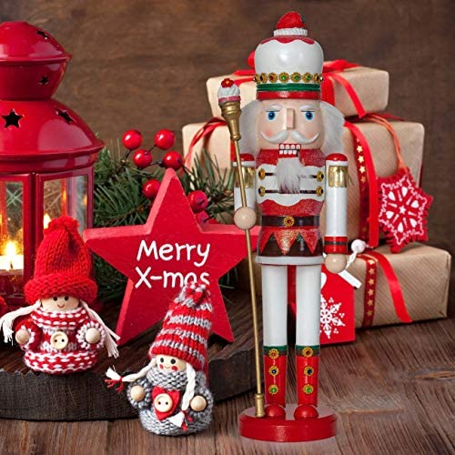 Ornativity Strawberry Toy Soldier Nutcracker - Wooden Strawberry Hat with Cupcake Scepter King Theme Christmas Nutcracker Figure Holiday Decoration: Home & Kitchen