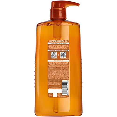 L'Oreal Paris Elvive Extraordinary Oil Nourishing Shampoo, for Dry or Dull Hair, Shampoo with Camellia Flower Oils, for Intense Hydration, Shine, and Silkiness, 28 Fl. Oz: Beauty