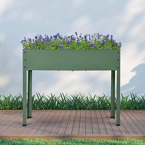 Elevated Planters and Raised Garden Beds Elevated Planter Box with Legs Outdoor Patio for Flower Herb Vegetable Grow: Kitchen & Dining