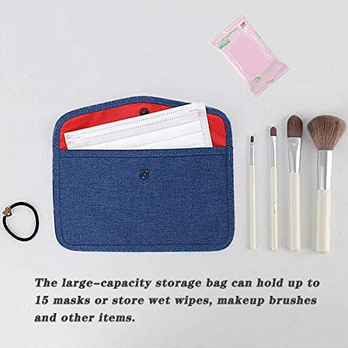 Mask Storage Case Waterproof Portable Mask Box Hygiene Storage Bag Masks Organizer for Recyclable Face Mask Holder Container Keeper Suitable for Adults and Kids (3 Packs) : Office Products