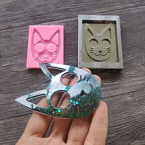 Silicone Mould DIY Resin Mold Super Glossy Self-Defense Cat Keychain Pendants