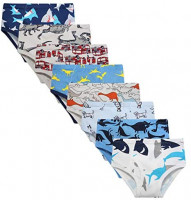 Boys' Underwear Briefs Soft 100% Cotton 6-8 Pack Kids Underwear Toddler Undies: Clothing
