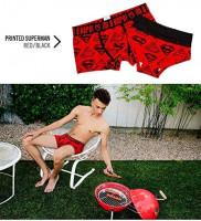 Andyshi Men's Underwear Superman for Batman Cartoon Print Lovers Style Sexy Cotton Boxer Briefs Men Short Pants Underwears at Men's Clothing store