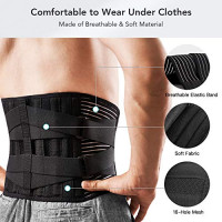 Freetoo Back Braces for Lower Back Pain Relief with 6 Stays, Breathable Back Support Belt for Men/Women for work , Anti-skid lumbar support belt with 16-hole Mesh for sciatica(S): Industrial & Scientific