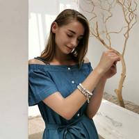 Tree of Life Turquoise Jasper & Tibetan Agate Gemstone Chakra Beaded Bracelet   Beach Charm Bracelet Set - Ocean Jewelry (Sky Blue): Clothing