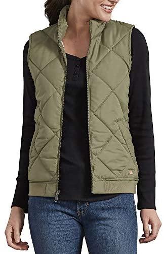 Dickies Women's Quilted Bomber Vest at Women's Coats Shop