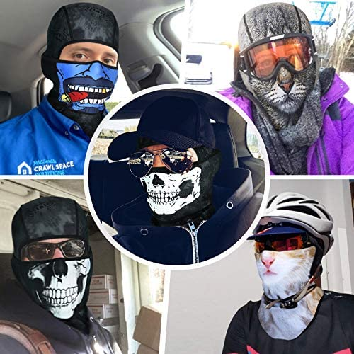 CUIMEI 3D Balaclava Face Mask for Men Motorcycle Ski Ice Fishing Cold Weather Winter Face Cover at Men's Clothing store