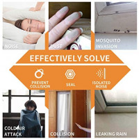 KELIIYO Door Weather Stripping, Window Seal Strip for Doors and Windows - Self-adhisive Foam Weather Strip Door Seal | Soundproof Seal Strip Insulation Gap Blocker Epdm D Type 66ft(20m) 2 Pack (Grey)