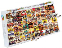 Logicpuz Vintage Western Movie Poster Jigsaw Puzzle 1000 Piece Old West Themed Puzzle for Adult: Toys & Games