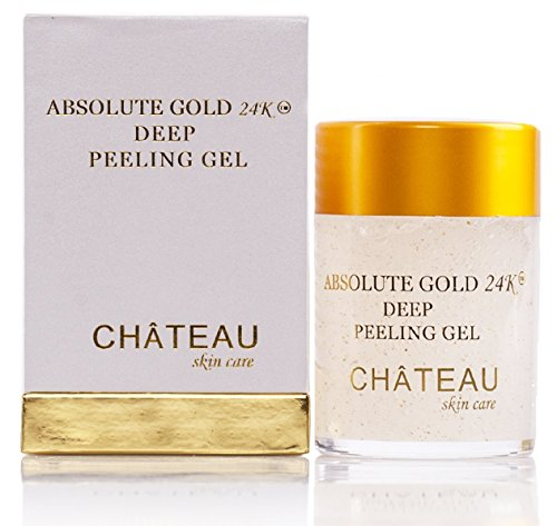Absolute Gold 24K Deep Peeling Gel- 24 KARAT GOLD, PEARL POWDER and GINGER EXTRACT. Excellent for all skin types. 2.04 fl.oz-60 ml. Eliminates the dead skin cells and leaving skin glowing and radiant. (FRAGRANCE FREE, PARABEN FREE, PETROLEUM FREE).: Beauty