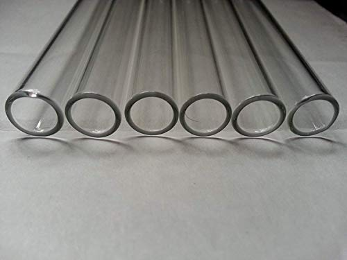 4 inch 6 Tubes 12mm OD Borosilicate Glass Blowing Tubing 2mm Thick Wall Clear Tube: : Industrial & Scientific