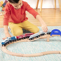 Battat – Wooden Passenger Trains – Classic & Compatible Wooden Toy Train Car Accessories for Kids & Collectors Aged 3 Years Old & Up - Compatible with Thomas Train - (6Pc): Toys & Games