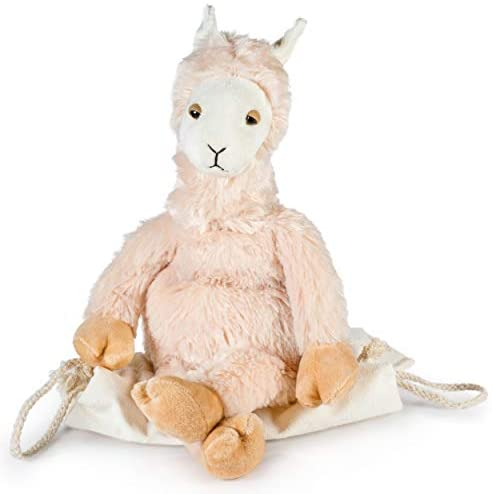Lulumaia Llama Heating Pad for Cramps - Microwavable Heating Pad for Menstrual Cramps in Llama Stuffed Animal Plush Relief Your Neck, Stomach, Back Pain. Comes in a Cute Canvas Bag: Health & Personal Care