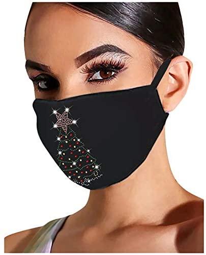 JMETRIE Adult Mask Dustproof Color Flash Diamond Rhinestone Butterfly Print Face Mask Medium, Multicolor(4) at Women's Clothing store