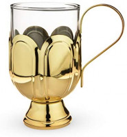 Twine Mulled wine glass, One Size, Gold: Bar Tools & Drinkware