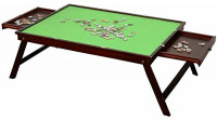 Wooden Jigsaw Puzzle Table for Adults & Kids,Large Portable Folding Table for Puzzle Games with 2 Storage Drawers & Cover,Home Furniture - Puzzle Accessories for 1000 Pcs: Toys & Games